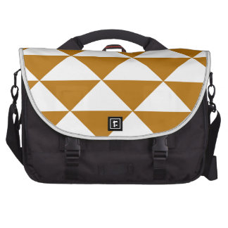 Cocoa and White Triangles Laptop Commuter Bag