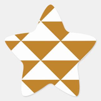 Cocoa and White Triangles Star Sticker