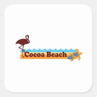 Cocoa Beach - Beach Design. Square Sticker