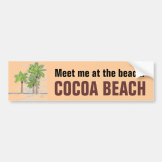 COCOA BEACH bumper sticker