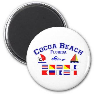 Cocoa Beach FL Signal Flags 2 Inch Round Magnet