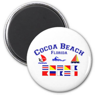Cocoa Beach FL Signal Flags Magnet