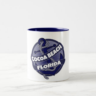 Cocoa Beach Florida anchor swirl coffee mug