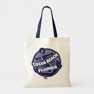 Cocoa Beach Florida anchor swirl tote bag