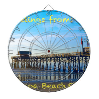 Cocoa Beach Florida Dartboard With Darts