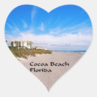 cocoa Beach Florida Heart Sticker
