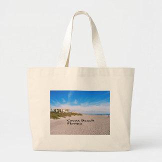cocoa Beach Florida Large Tote Bag