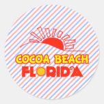 Cocoa Beach, Florida Round Sticker