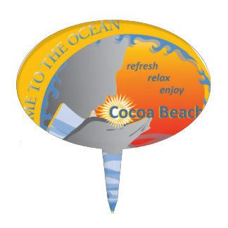 Cocoa Beach Gifts Cake Topper