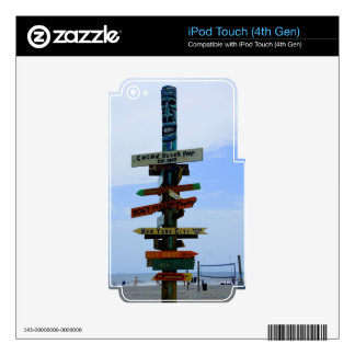 Cocoa Beach Landmark iPod Touch 4G Decals