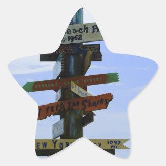 Cocoa Beach Landmark Star Sticker