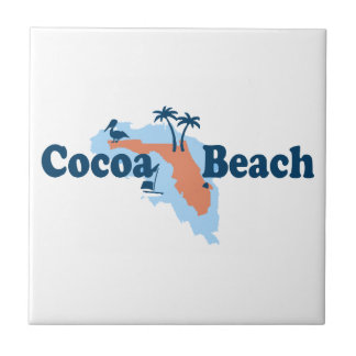 Cocoa Beach - Map Design. Ceramic Tile