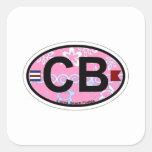 Cocoa Beach - Oval Design. Sticker