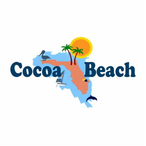 Cocoa Beach. Photo Cutouts