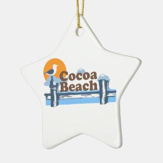 Cocoa Beach - Pier Design. Ceramic Ornament