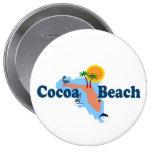 Cocoa Beach. Pinback Buttons