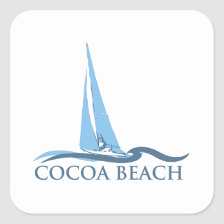 Cocoa Beach - Sailing. Square Sticker