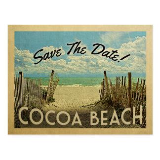 Cocoa Beach Save The Date Vintage Beach Nautical Postcard