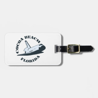 Cocoa Beach - Space Shuttle Tag For Luggage