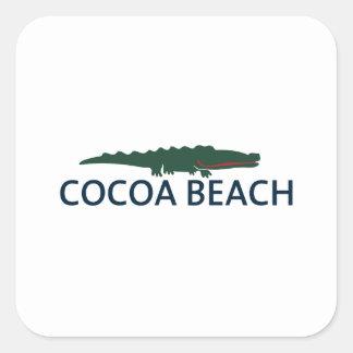 Cocoa Beach. Square Sticker
