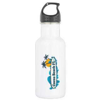 Cocoa Beach - Surf. 18oz Water Bottle
