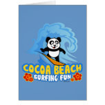 Cocoa Beach Surfing Fun Card