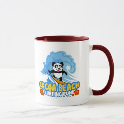 Combo Mug with Cocoa Beach Surfing Panda design
