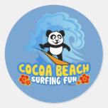 Cocoa Beach Surfing Fun Round Sticker