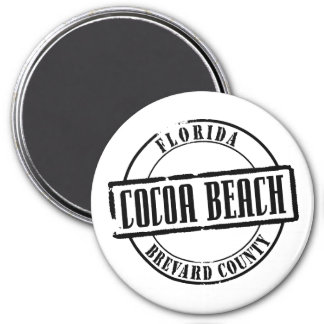 Cocoa Beach Title 3 Inch Round Magnet