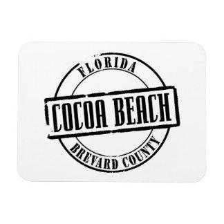 Cocoa Beach Title Rectangular Photo Magnet