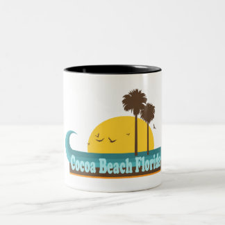 Cocoa Beach. Two-Tone Coffee Mug