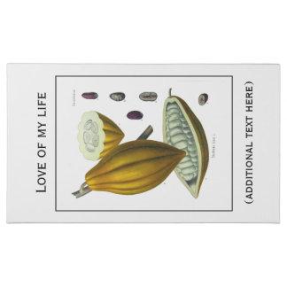 Cocoa bean vintage illustration sweet box