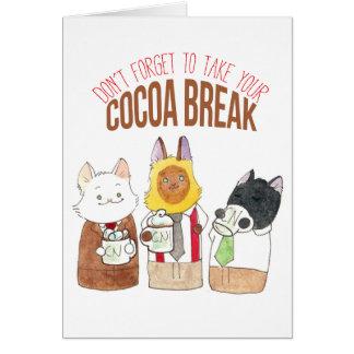 Cocoa Break Card