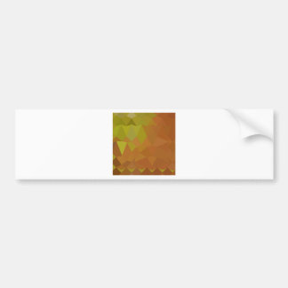 Cocoa Brown Abstract Low Polygon Background Car Bumper Sticker