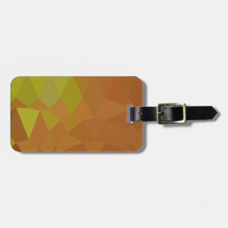 Cocoa Brown Abstract Low Polygon Background Luggage Tag