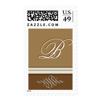 Cocoa brown / chocolate brown - Monogram B Postage
