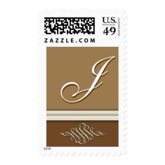 Cocoa brown / chocolate brown - Monogram J Stamp