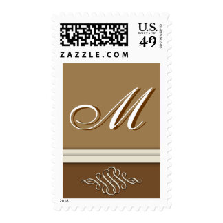 Cocoa brown / chocolate brown - Monogram M Postage