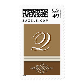 Cocoa brown / chocolate brown - Monogram Q Stamps