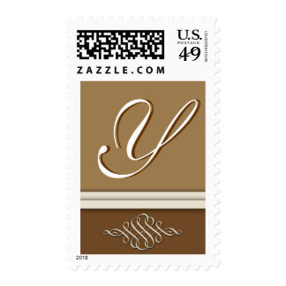 Cocoa brown / chocolate brown - Monogram Y Stamp