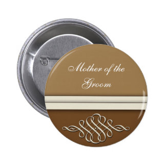 Cocoa brown / chocolate brown pinback button