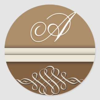 Cocoa brown / chocolate brown round stickers