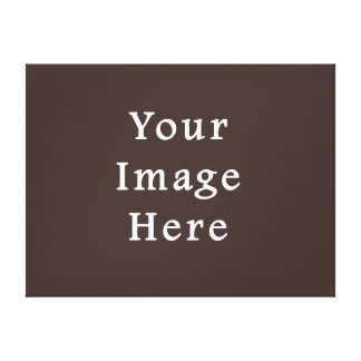 Cocoa Brown Taupe Color Trend Blank Template Canvas Print