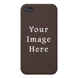 Cocoa Brown Taupe Color Trend Blank Template Cases For iPhone 4