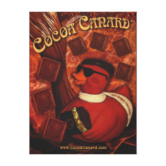 Cocoa Canard Canvas Wrapped Poster
