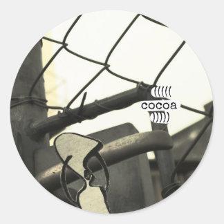 cocoa classic round sticker