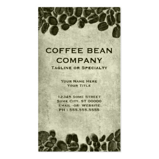 cocoa coffee beans business card templates