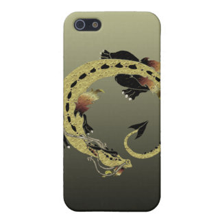 Cocoa Coiled Dragon Cover For iPhone SE/5/5s