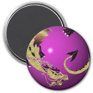 Cocoa Coiled Dragon Magnet