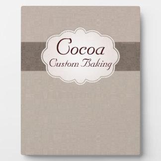 Cocoa Custom Baking Plaque